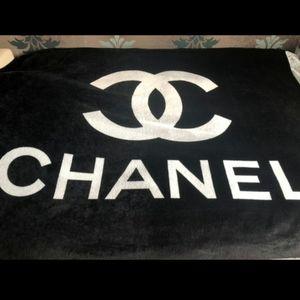 Chanel fleece throw blanket